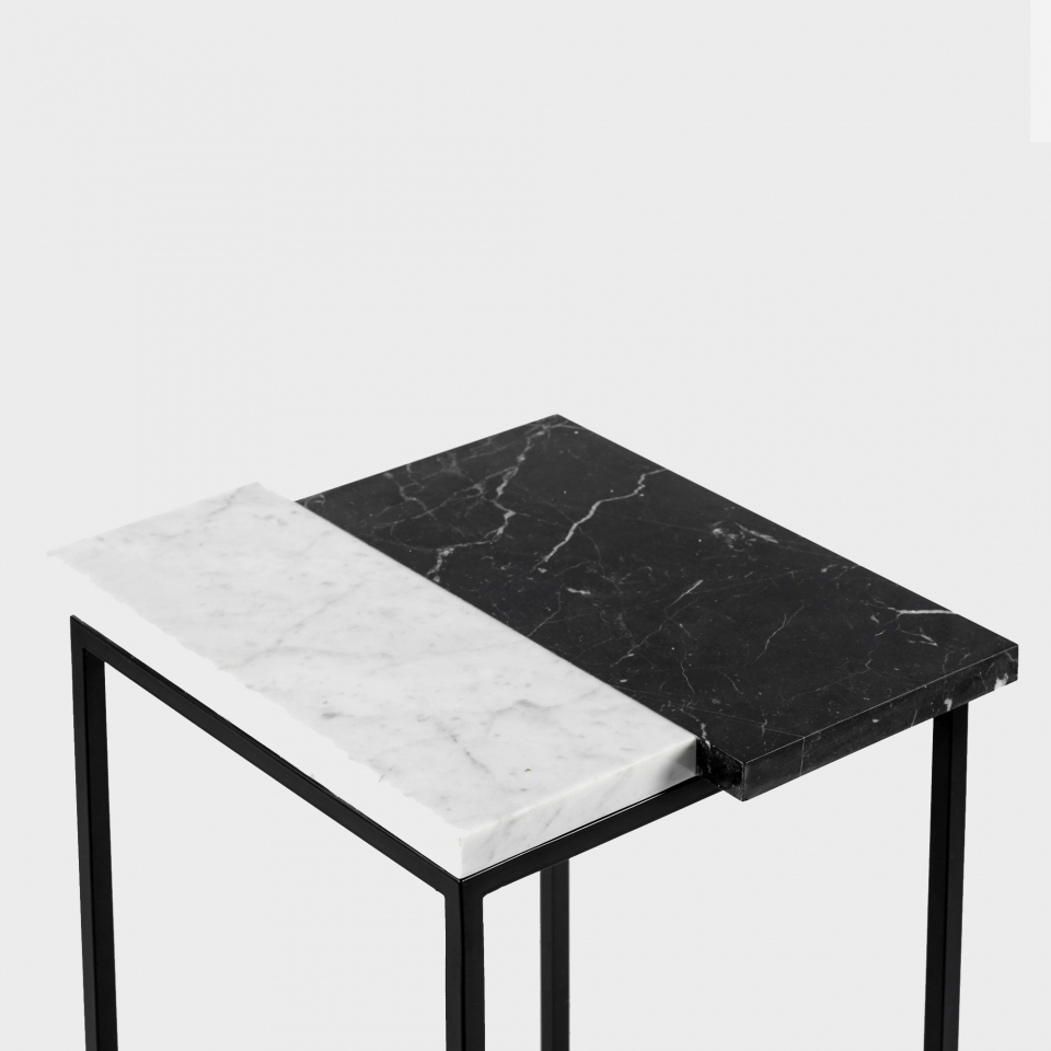 Console with marble top