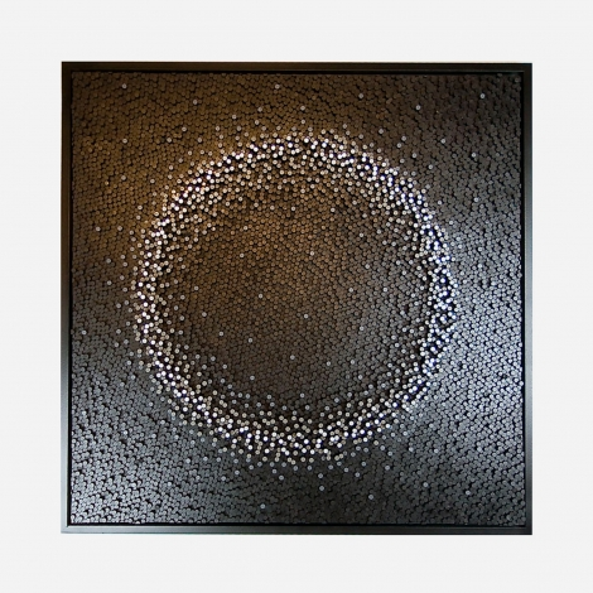 Obraz dębowa mozaika